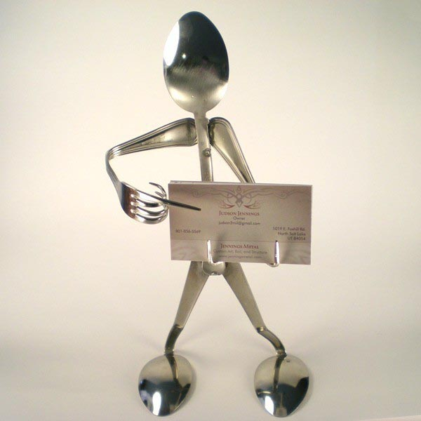 Silverware figure business card holder gadgetsin colourmoves