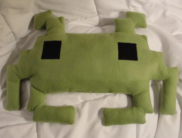 Space Invaders Decorative Pillow for Your Space Dream