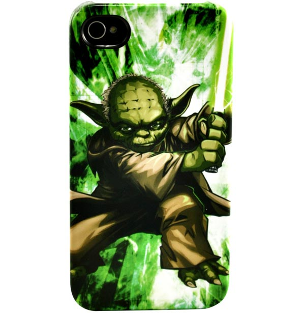 Star Wars Sexy Slave Leia iPhone 4 Case - Master Yoda