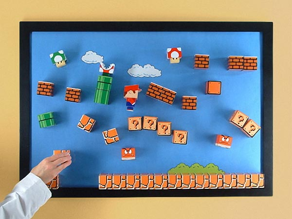 Super Mario Paper Craft Magnetic Board 3D Version