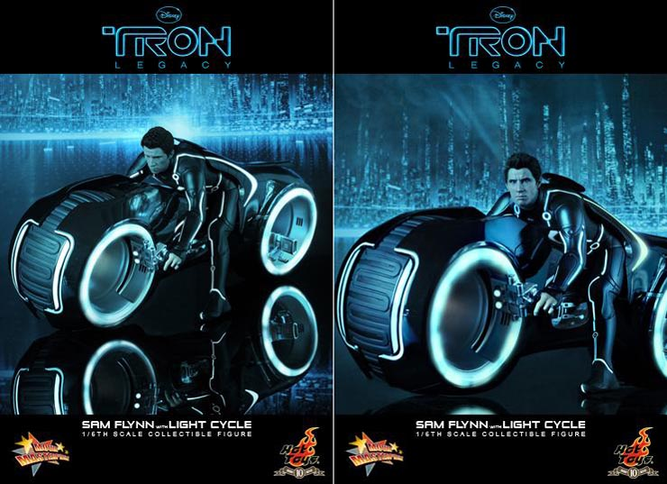 Tron Legacy Collectible Figure Sam Flynn with Light Cycle