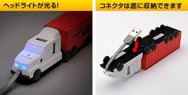 Truck Styled USB Hub Integrated Card Reader