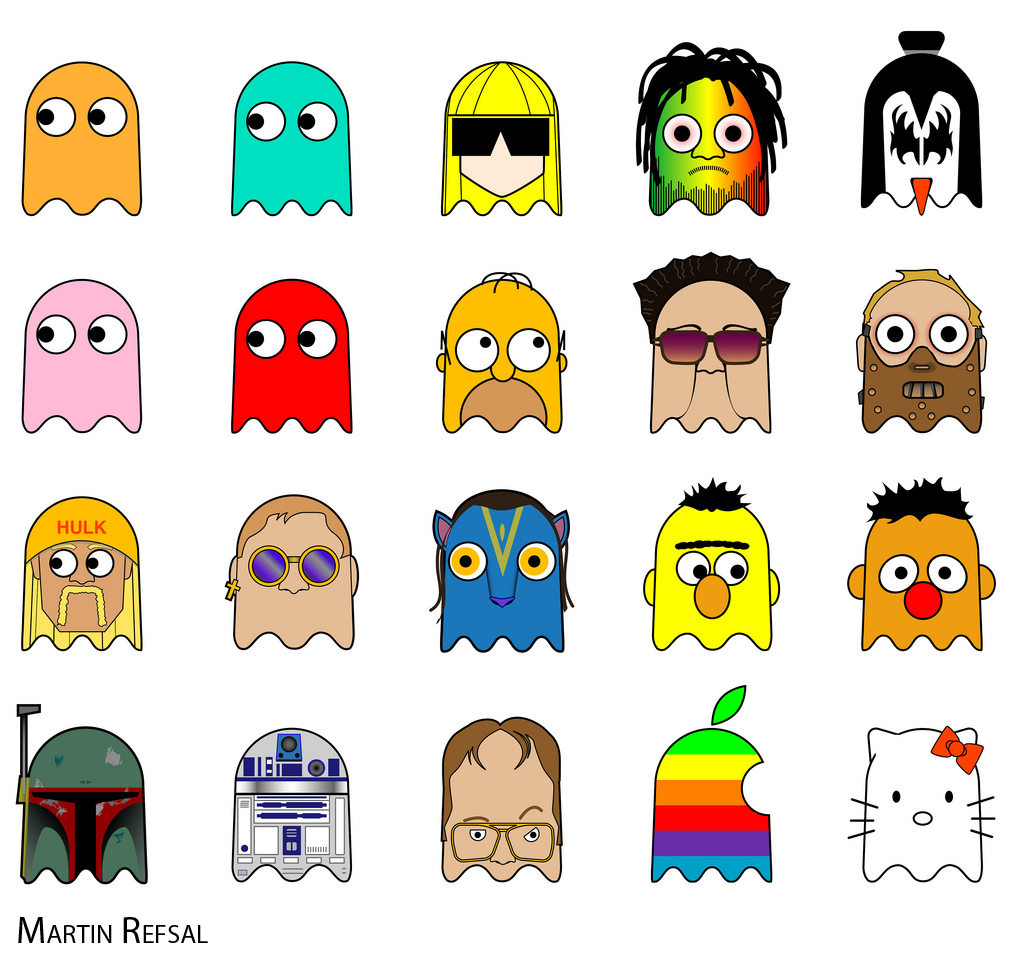 It's just a graphic of Peaceful Pictures of Pacman Ghosts