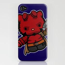 Hello Kitty Mushup iPhone 4 Cases by YayzusGraphics