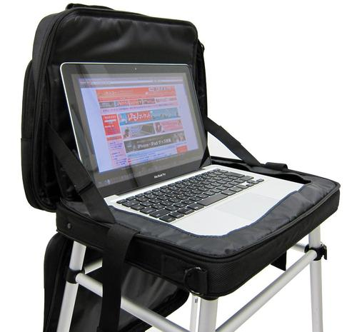 Thanko Table Laptop Bag Lets You Use Laptop Anywhere