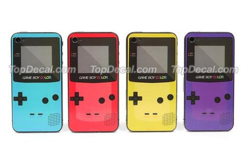 Nintendo Game Boy Color iPhone 4 Decal