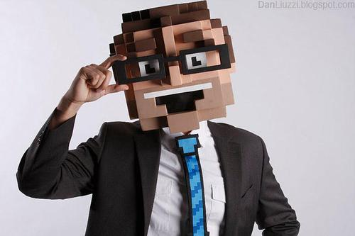 8-Bit Big Head Halloween Costume