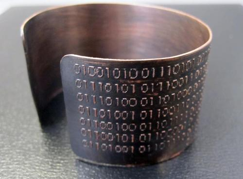 Binary Code Geek Copper Bracelet
