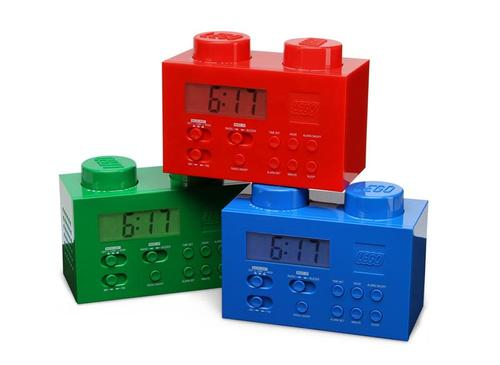 LEGO Brick Alarm Clock with AM FM Radio