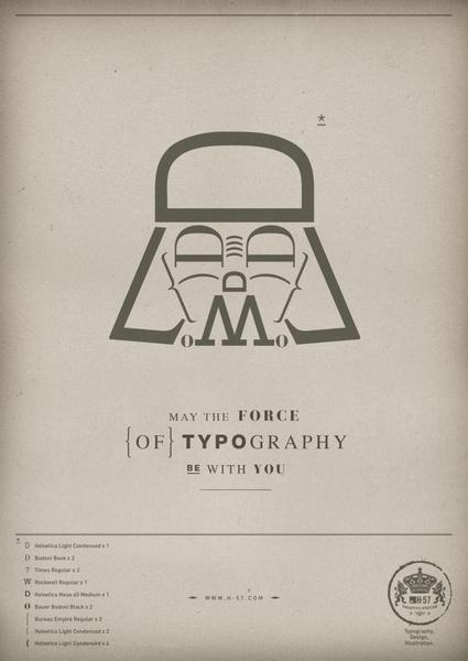 Star Wars Themed Posters: The Force of Typography