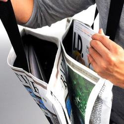 Rain Times Newspaper Styled Waterproof Canvas Bag