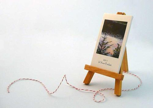 2011 Art Desk Calendar with Wooden Easel