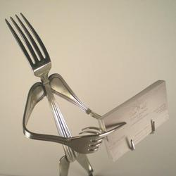 Silverware Figure Business Card Holder