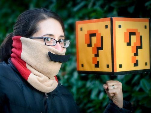 Super Mario Mustache Fleece Neck Warmer