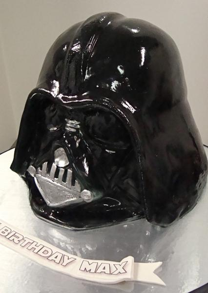 Star Wars Darth Vader Helmet Cake