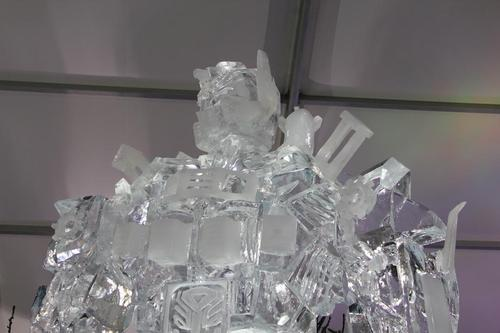 Giant Optimus Prime Ice Sculpture