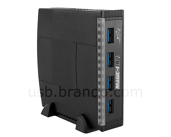 3.5-Inch 4-Port USB 3.0 Hub for Computer Case