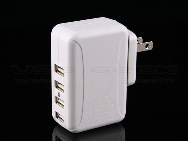 4-Port USB Travel Charger
