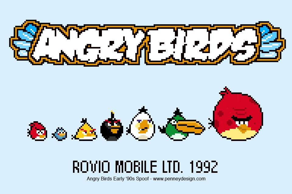 Angry birds 8 bit version