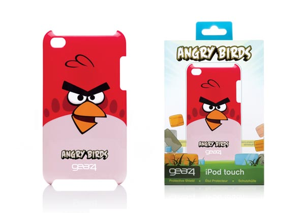 Its Angry Birds iPod touch 4G case comes in three types according to