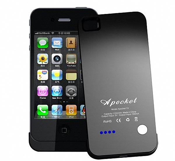Apocket iPhone 4 Extended Battery Doubled as Docking Station | Gadgetsin