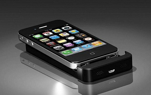 apocket iphone 4 extended battery doubled as docking station gadgetsin. Black Bedroom Furniture Sets. Home Design Ideas