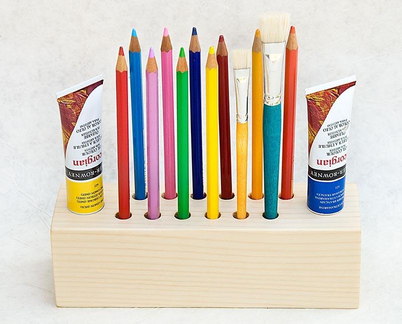 Big Daisy Wooden Pen Holder Gadgetsin