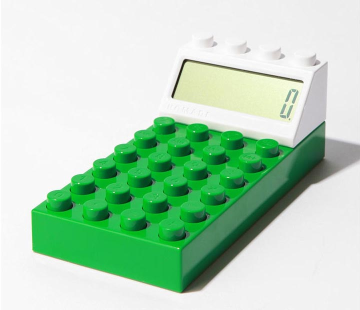 Building Block Styled Calculator Gadgetsin