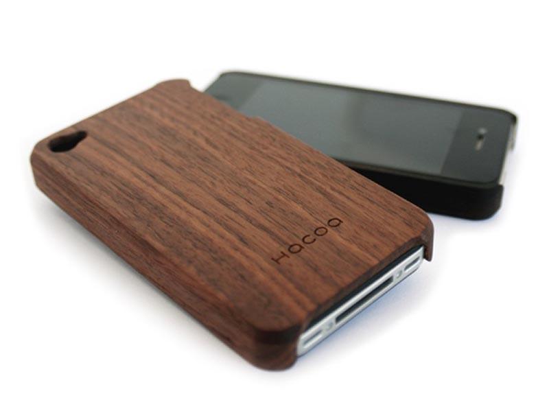 customizable hacoa wooden iphone 4 case gadgetsin. Black Bedroom Furniture Sets. Home Design Ideas