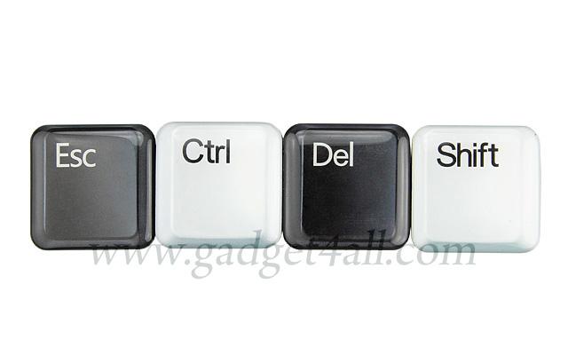 Esc Ctrl Del and Shift Fridge Magnet Set
