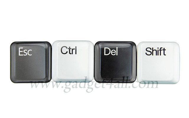 Esc Ctrl Del and Shift Fridge Magnet Set