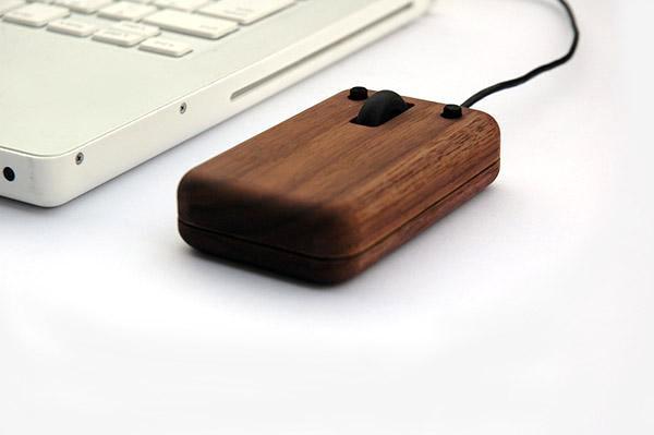 Hacoa Wooden Computer Mouse