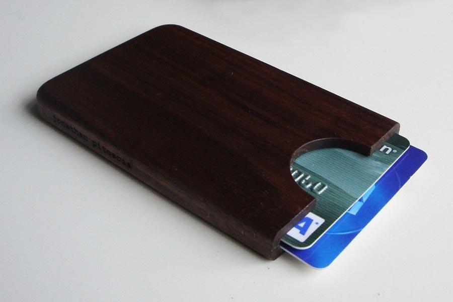 Handmade Wooden Business Card Holder