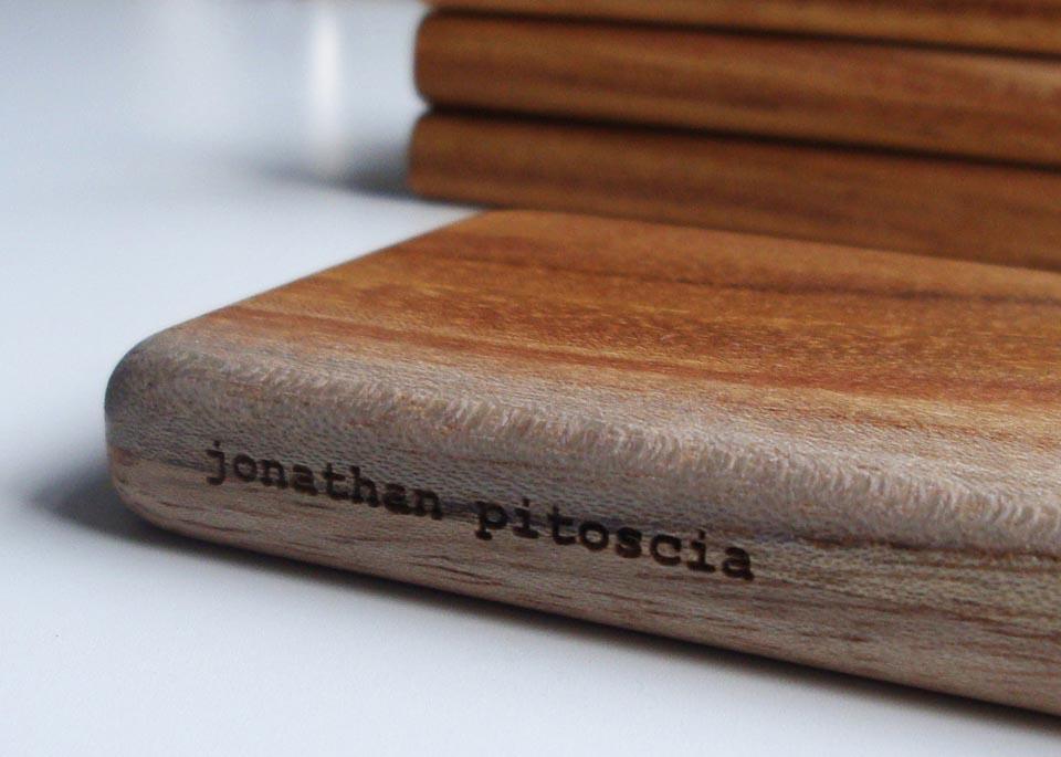 Handmade wooden business card holder gadgetsin colourmoves