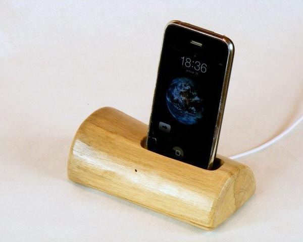 Handmade Wooden iPhone and iPod Dock