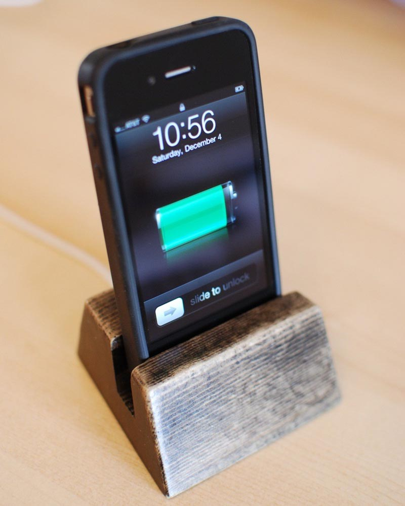 ... eco-friendly method, you may like the handmade wooden iPhone dock