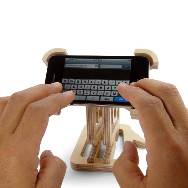 Iconicstand wooden iphone stand gadgetsin