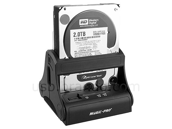 Magic-Pro USB 3.0 SATA HDD Docking Station With One Touch Backup