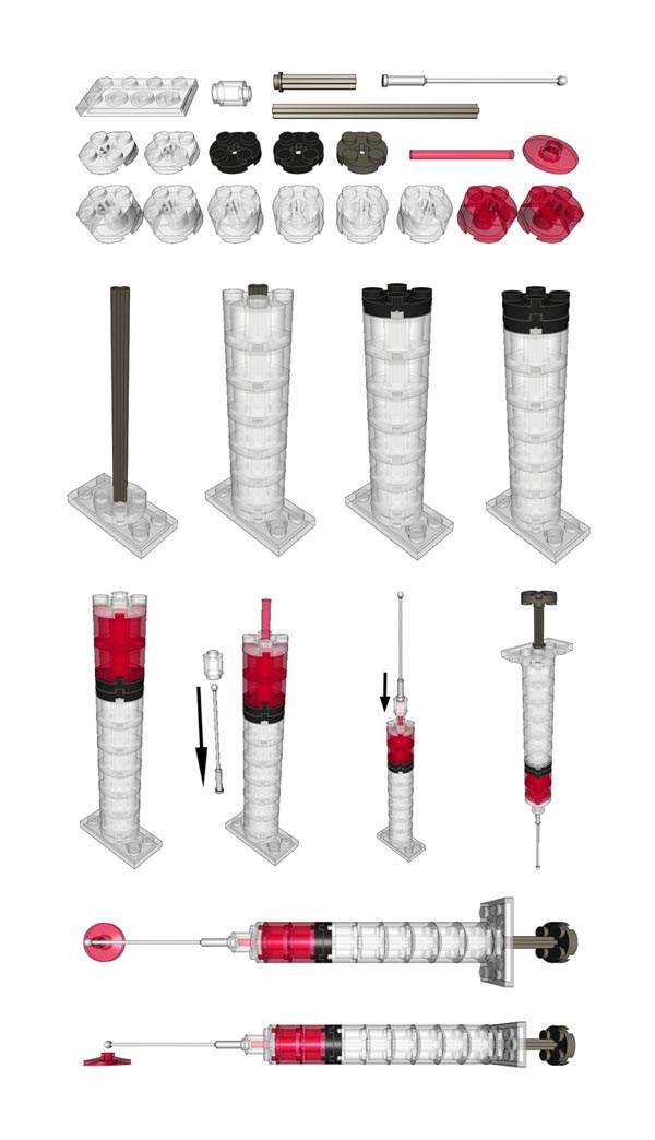 Make Your Own LEGO Syringe