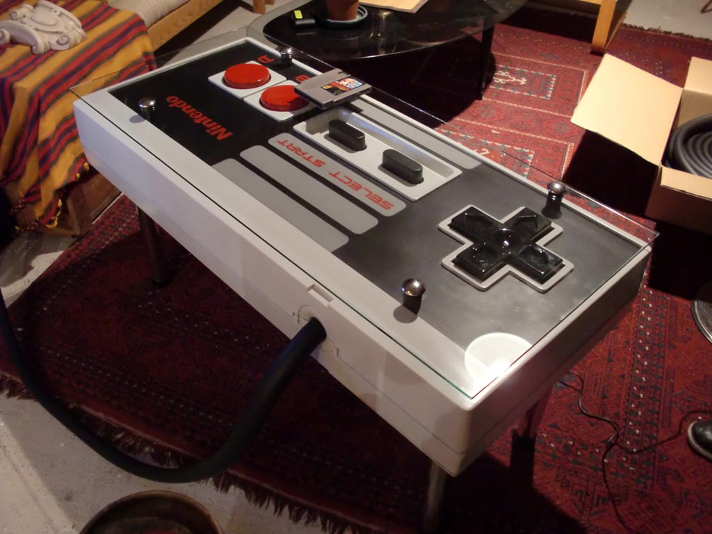Nintendo Nes Controller Coffee Table Integrated Game Console Gadgetsin
