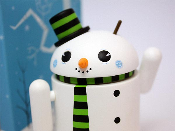 Snowman Google Android Mini Figure Special Edition