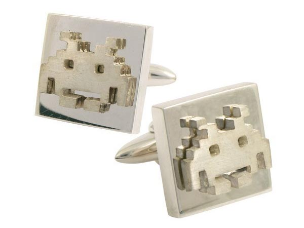 Space Invaders Sterling Silver Cufflinks