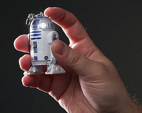 Star Wars R2-D2 LED Flashlight Keychain