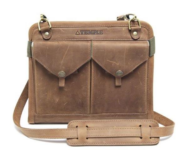 Temple Multi Functional Leather iPad Bag