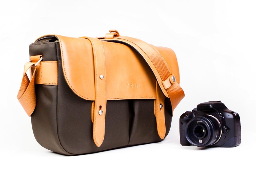 The Classical Leather Camera Messenger Bag | Gadgetsin