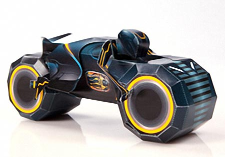 Tron Legacy Light Cycle Paper Crafts