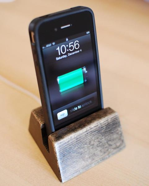 Handmade Wooden iPhone Dock