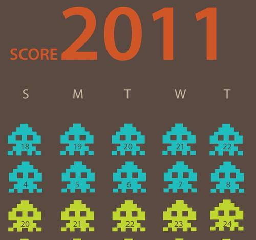 Space Invaders 2011 Calendar
