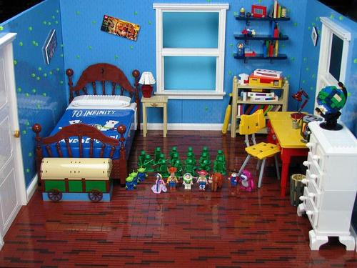Toy Story Andy's Room Built with LEGO Bricks