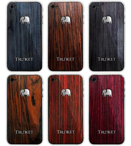 Trunket Hand Crafted iPhone 4 Wooden Skins